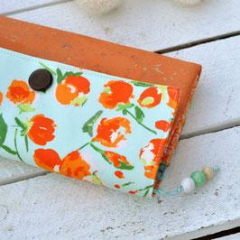 Geldbeutel / Blumen / Blumen / mint &orange