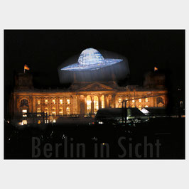 """Postkarte """"UFO über dem Reichstag"""""""