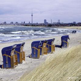 "Foto auf Alu-Dibond ""Strandspaziergang"""
