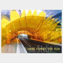 """Postkarte """"Here comes the sun"""""""