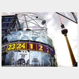"Postkarte ""Berlin Weltzeituhr"""