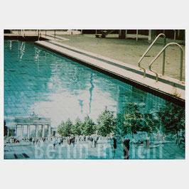 "Postkarte ""Berlin im Freibad"""