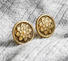 """Vintage Blüten"" Goldfarbene Ohrstecker"