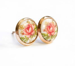 """Vintage Rose"" Ohrstecker"