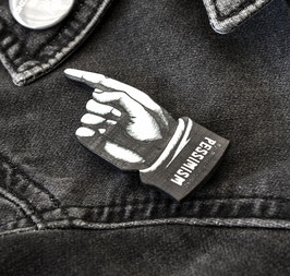 "Funky ""Zeigefinger"" Pin - Patch mit Nadel"