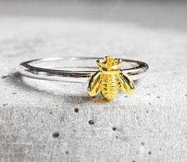 """Bienen"" Ring Gold/Silber"