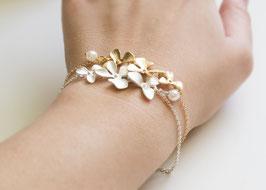 Vintage Orchidee Flowers Armband