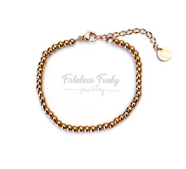 Perlenarmband in Rose Gold