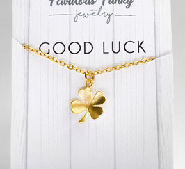"""Good luck"" Kleeblattkette"