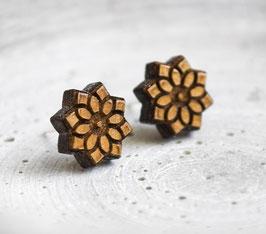Lotus-Blüten Holz Ohrstecker #3