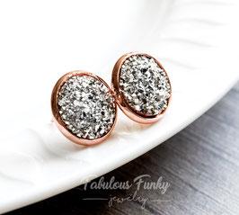 Funkelsteine Rose Gold - Silber