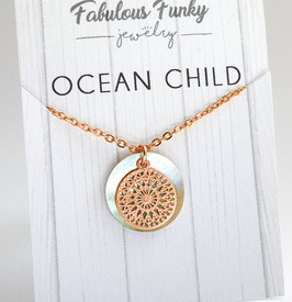 """Ocean child"" - Rose Gold / Gold"