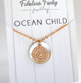 """Ocean child"" - Rose Gold / Gold"