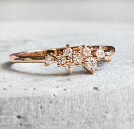 """Romantic"" Ring in Silber/Rose Gold/Gold"