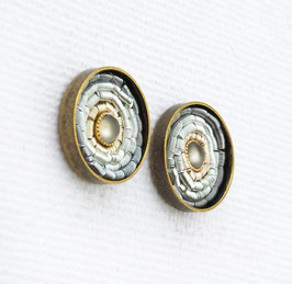 Summer Ohrstecker - Light Gray - Bronze