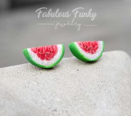 Melonenscheiben Ohrstecker