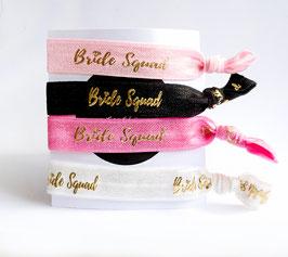 """""""Bride"""" oder """"Bride Squad"""" - Armband Haargummi Junggesellenabschied Hochzeit"""