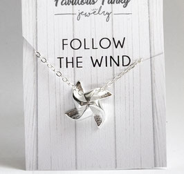 """Follow the wind"" - Windrad - Kette"
