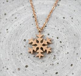 Schneeflocken Kette - Rose Gold