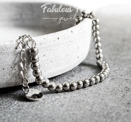 Perlenarmband in Silber