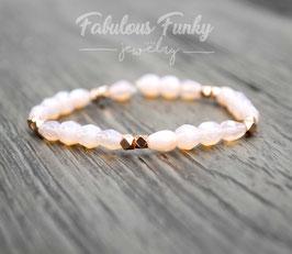 Perlenarmband - Zart rosa