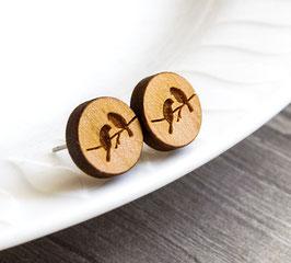 Vogel-ohrstecker Holz