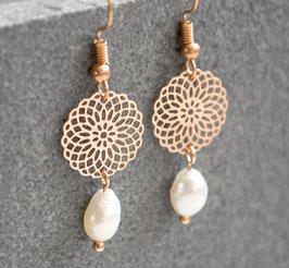Mandala Ohrringe - mit Perle