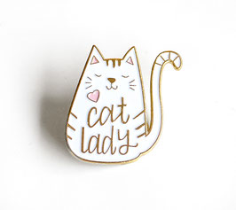 "Funky ""Cat Lady"" Pin - Metallpin mit Nadel"