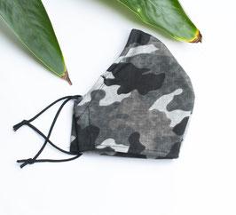 Herren Mund- und Nasenmaske - Behelfsmaske Camouflage Grau