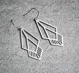 Ohrringe - Geometrisch Silberfarben