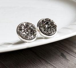 Funkelsteine Silber - Grau