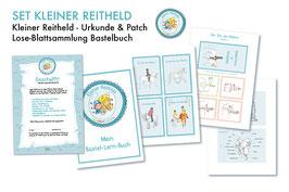 """Kinderset  Abzeichen """"Kleiner Reitheld"""" mit Vorlagen Bastelbuch"""