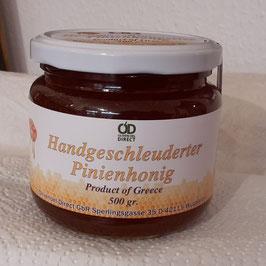 Pinien-Honig - handgeschleudet von der Insel Thassos - 500 gr. Glas