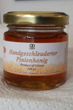 Pinien-Honig - handgeschleudet von der Insel Thassos - 100 gr. Glas