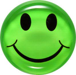 Glasmagnet Kühlschrankmagnet Smiley grün