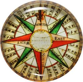 Glasmagnet Kühlschrankmagnet Kompass