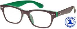 Lesebrille WOODY Selection braun-grün