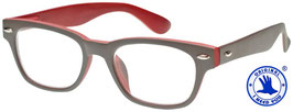 Lesebrille WOODY Selection grau-rot
