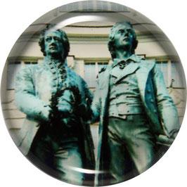 Glasmagnet Kühlschrankmagnet Goethe - Schiller