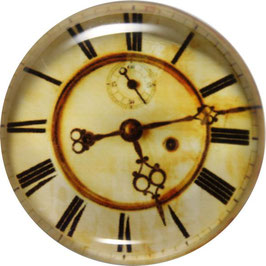 Glasmagnet Kühlschrankmagnet Uhr antik