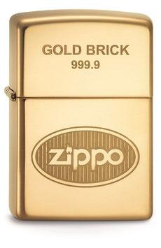 ZIPPO GOLD BRICK
