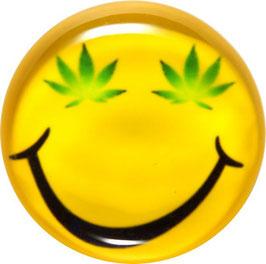 Glasmagnet Kühlschrankmagnet Hanf Smiley
