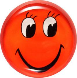 Glasmagnet Kühlschrankmagnet Smiley rot