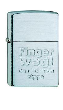 """ZIPPO """"Finger weg!"""""""