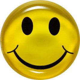 Glasmagnet Kühlschrankmagnet Smiley gelb