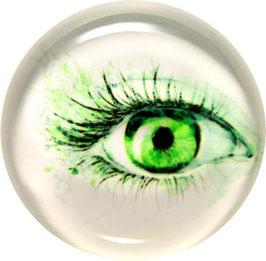 Glasmagnet Kühlschrankmagnet Auge grün