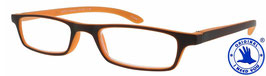 Lesebrille ZIPPER braun-orange