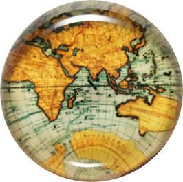 Glasmagnet Kühlschrankmagnet Weltkarte