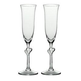 Sektglas Champagner Glas Herzen matt L´Amour