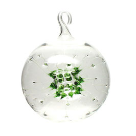 Spinnenkugel Glaskugel klar/grün